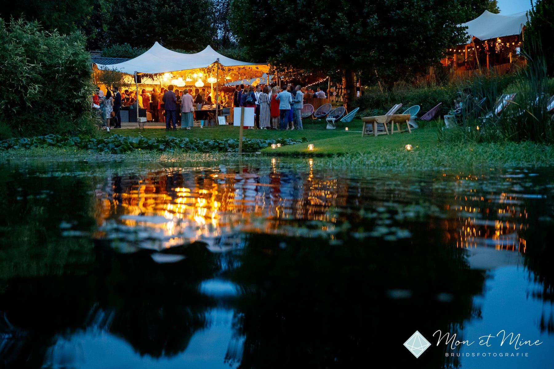 Feest Park Ven chalet buitenbar vijver natuur idyllisch Diepenbeek